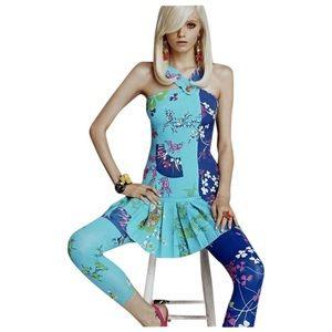 Versace x H&M Pleated Silk Dress + Dust / Shop Bag